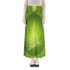 Vector Chirstmas Tree Design Maxi Skirts