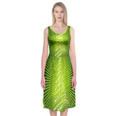 Vector Chirstmas Tree Design Midi Sleeveless Dress
