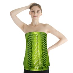 Vector Chirstmas Tree Design Strapless Top
