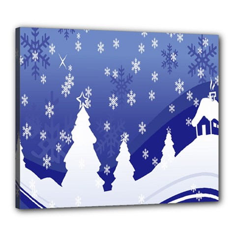 Vector Christmas Design Canvas 24  x 20
