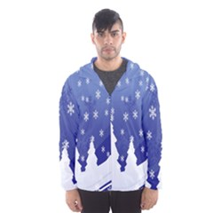 Vector Christmas Design Hooded Wind Breaker (Men)