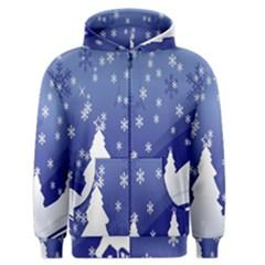 Vector Christmas Design Men s Zipper Hoodie