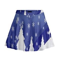 Vector Christmas Design Mini Flare Skirt