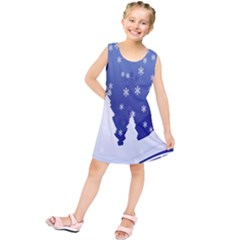 Vector Christmas Design Kids  Tunic Dress