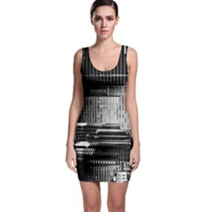 Urban Scene Street Road Busy Cars Sleeveless Bodycon Dress