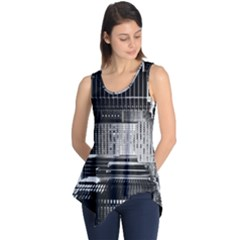 Urban Scene Street Road Busy Cars Sleeveless Tunic