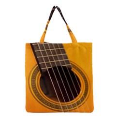 Vintage Guitar Acustic Grocery Tote Bag