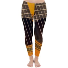 Vintage Guitar Acustic Classic Winter Leggings