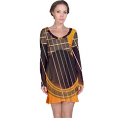 Vintage Guitar Acustic Long Sleeve Nightdress