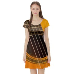 Vintage Guitar Acustic Short Sleeve Skater Dress