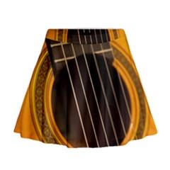 Vintage Guitar Acustic Mini Flare Skirt