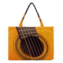 Vintage Guitar Acustic Medium Tote Bag