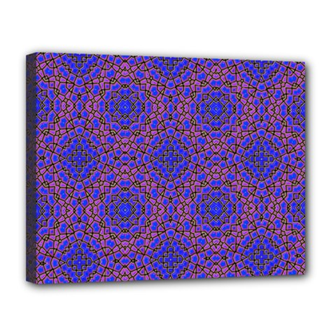 Tile Background Image Pattern Canvas 14  x 11