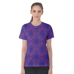 Tile Background Image Pattern Women s Cotton Tee