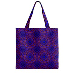 Tile Background Image Pattern Zipper Grocery Tote Bag