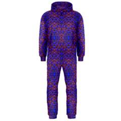 Tile Background Image Pattern Hooded Jumpsuit (men)