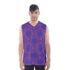Tile Background Image Pattern Men s Basketball Tank Top