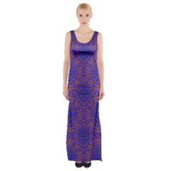 Tile Background Image Pattern Maxi Thigh Split Dress
