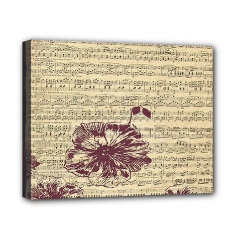 Vintage Music Sheet Song Musical Canvas 10  x 8