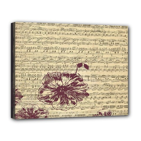 Vintage Music Sheet Song Musical Canvas 14  x 11