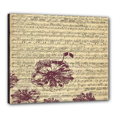 Vintage Music Sheet Song Musical Canvas 24  x 20