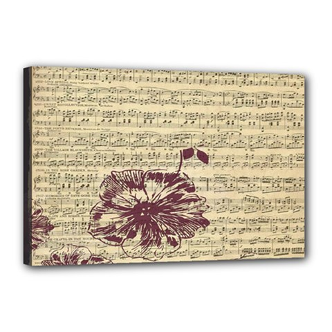 Vintage Music Sheet Song Musical Canvas 18  x 12