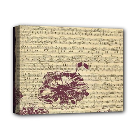 Vintage Music Sheet Song Musical Deluxe Canvas 14  x 11