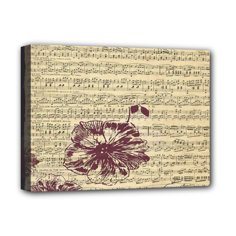 Vintage Music Sheet Song Musical Deluxe Canvas 16  x 12