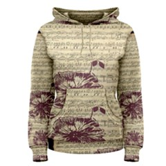 Vintage Music Sheet Song Musical Women s Pullover Hoodie