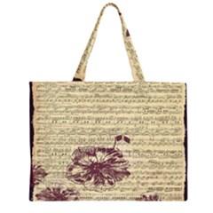 Vintage Music Sheet Song Musical Large Tote Bag