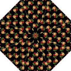 Vintage Roses Wallpaper Pattern Folding Umbrellas