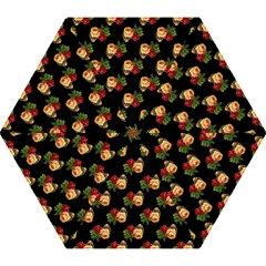 Vintage Roses Wallpaper Pattern Mini Folding Umbrellas