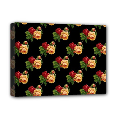 Vintage Roses Wallpaper Pattern Deluxe Canvas 16  x 12