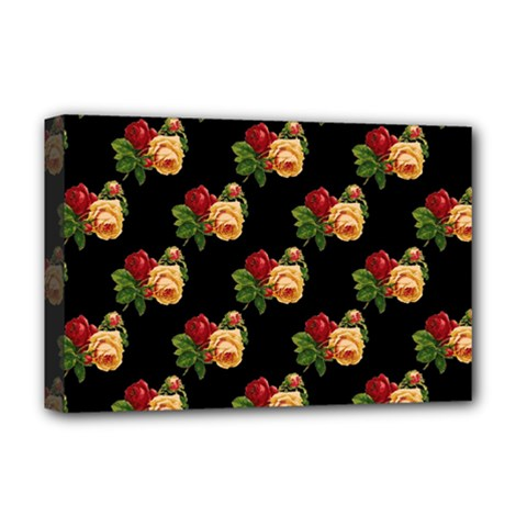 Vintage Roses Wallpaper Pattern Deluxe Canvas 18  X 12