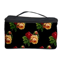 Vintage Roses Wallpaper Pattern Cosmetic Storage Case