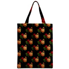 Vintage Roses Wallpaper Pattern Zipper Classic Tote Bag
