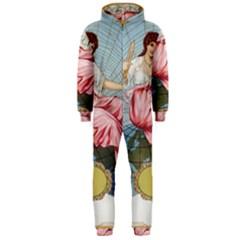 Vintage Art Collage Lady Fabrics Hooded Jumpsuit (men)