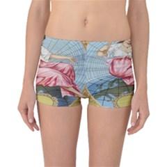 Vintage Art Collage Lady Fabrics Boyleg Bikini Bottoms