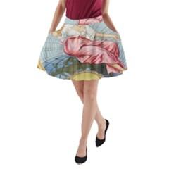 Vintage Art Collage Lady Fabrics A-Line Pocket Skirt