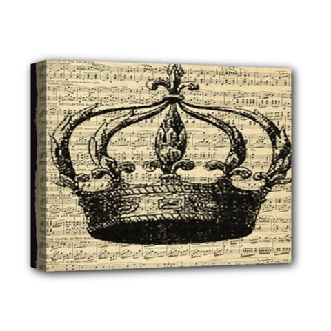 Vintage Music Sheet Crown Song Deluxe Canvas 14  X 11