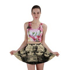 Vintage Music Sheet Crown Song Mini Skirt