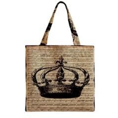 Vintage Music Sheet Crown Song Grocery Tote Bag
