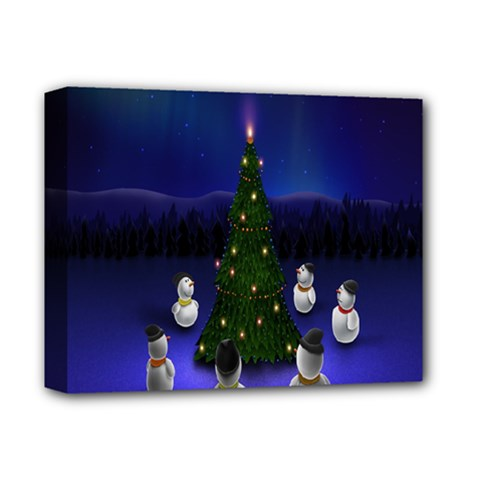 Waiting For The Xmas Christmas Deluxe Canvas 14  x 11