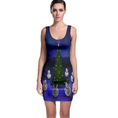 Waiting For The Xmas Christmas Sleeveless Bodycon Dress