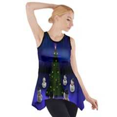 Waiting For The Xmas Christmas Side Drop Tank Tunic