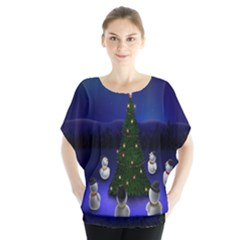 Waiting For The Xmas Christmas Blouse