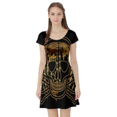 Virus Computer Encryption Trojan Short Sleeve Skater Dress