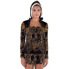 Virus Computer Encryption Trojan Women s Long Sleeve Hooded T-shirt