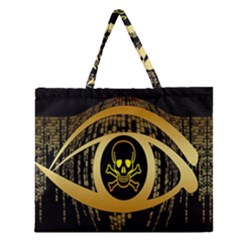 Virus Computer Encryption Trojan Zipper Large Tote Bag