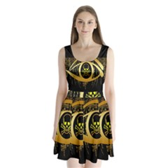Virus Computer Encryption Trojan Split Back Mini Dress